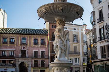 constitucion: Fountain in the Constitution Square Malaga Spain