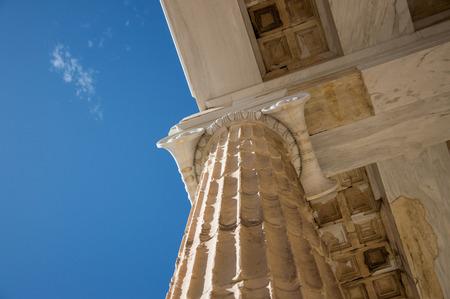 magnificence: Propylaea Acropolis Athens Greece Stock Photo