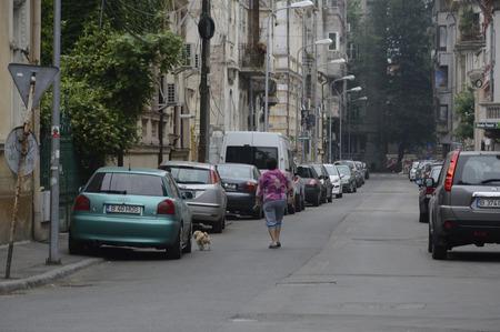 Cityscape of Old City Bucharest Romania