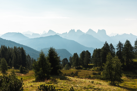 Mountain view over the Dolomites, Italy