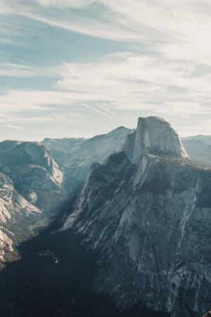 View of the Half Dome from Glacier Point, Yomesite California Zdjęcie Seryjne