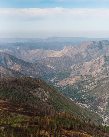 View of the valley from Glacier Point road, Yosemite California