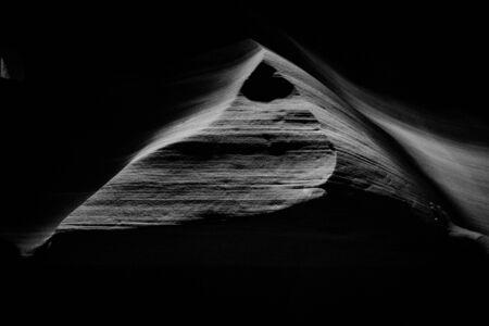 Black and white shot Antelope Canyon Arizona USA Imagens