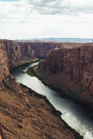 View from the Glen Canyon Dam Overlook Page Arizona