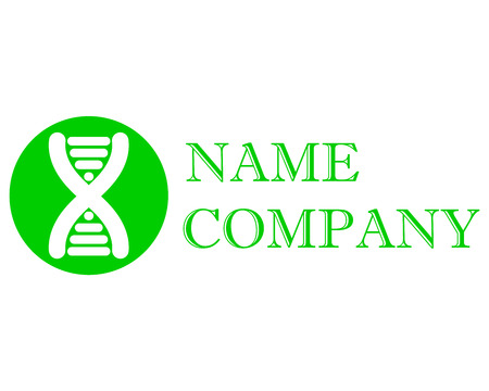 Logo for the company, biotechnology, medicine, DNA.