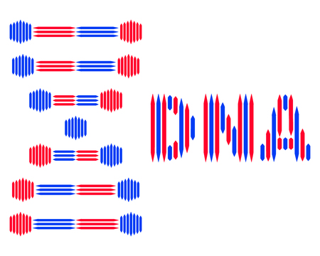Logo of DNA, for medical centers, biotechnology. 矢量图像