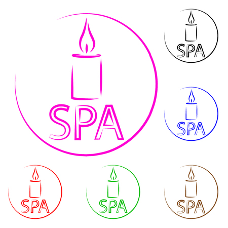 Logo for spa center. For drawing on a business card. Relax, rest, restoration, massage.