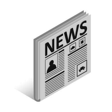 Newspaper on white background. Vector paper illustration. Journalism concept. 3d vector illustration. 일러스트