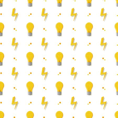 Vector seamless pattern with light bulbs. Simple background with a conventional incandescent bulb.