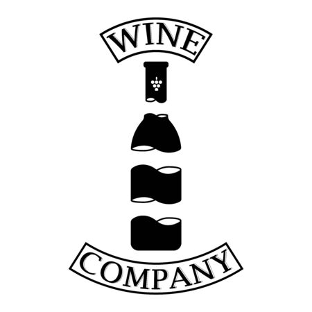 Unusual design of the bottle in a simple style. Ilustracja
