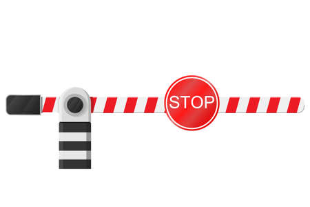Barrier. New beautiful device for traffic control. Ilustração