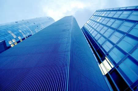 High modern skyscrapers on a background of the blue sky Stock Photo - 3641090