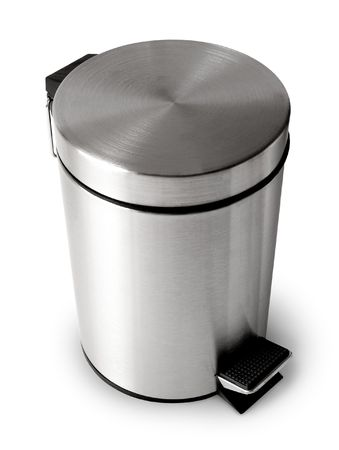 Wastebasket isolated on white background photo