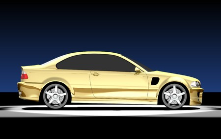 3D render of BMW M3. Redesigned by myself Stock Photo
