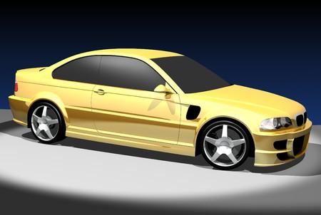 3D render of sport car.