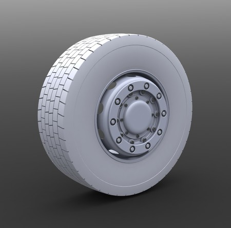 New Truck wheel on the gray background Stock Photo - 4549883
