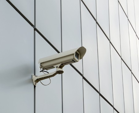 Security camera mounted on the facade of the modern building Stock Photo - 7156012