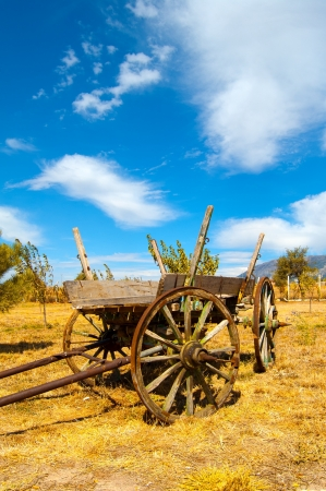 Old Wooden Cart in the Field