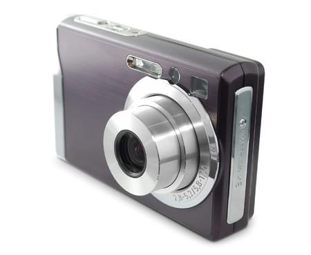 photocamera: Digital compact photocamera isolated on white background