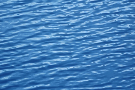 Blue rippled water surface. Water background Stockfoto