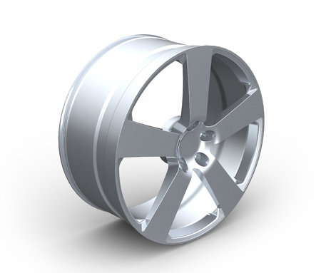 Aluminum Car Wheel Rim Isolated on the White background photo