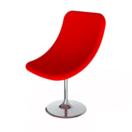 red chair: Modern Red Chair Isolated on the White Background