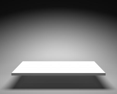 Witte Plank Voor Presentaties. Geïsoleerd Op Een Witte Achtergrond ...