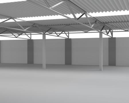 New Modern Empty Storehouse  Huge Light Empty Storehouse photo
