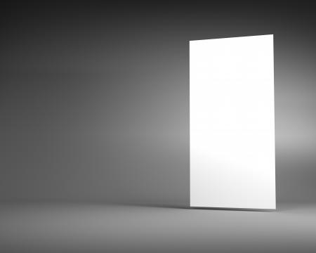 Blank White Vertical Billboard on a Dark Grey Background photo