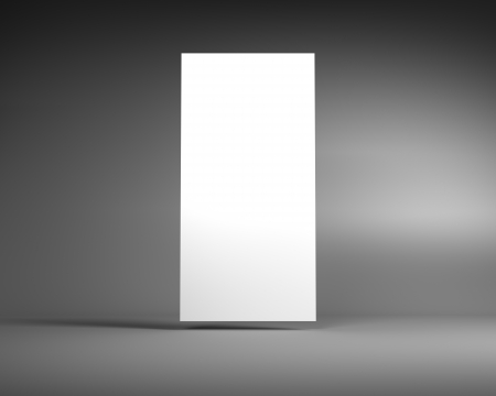 Blank White Vertical Billboard on a Dark Grey Background photo