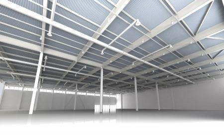 New Modern Empty Storehouse  Huge Light Empty Storehouse