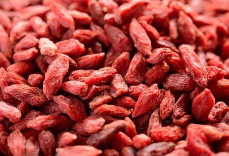 herbology: Background of Dried Red Goji Berries. Healthy Diet