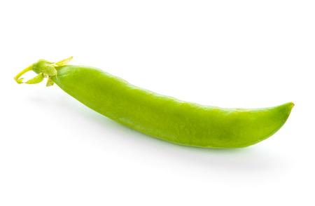 pea pod: Fresh Sweet Green Pea Pod Isolated on the White Background Stock Photo