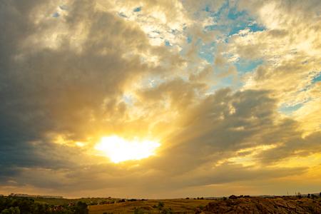 Beautiful Bright Sunset Sky