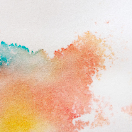 Abstract Watercolor Background. Bright Colorful Hand Paint Art on the White Paper Background. Banco de Imagens - 122698294