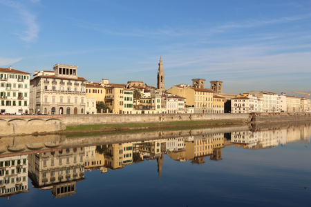 river arno: Sunset view of river Arno in Florence, Italy