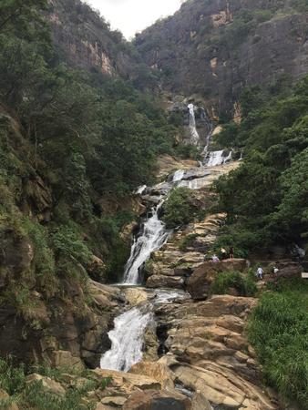 natures: Ravana Waterfalls in Sri Lanka Stock Photo