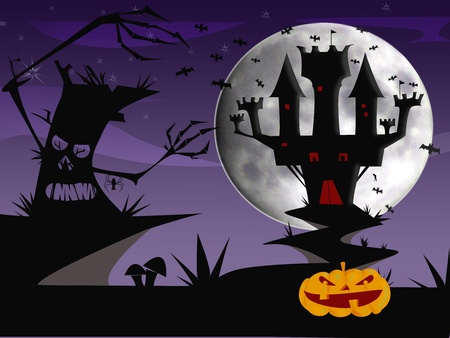 Halloween castle Stock Photo - 13055126