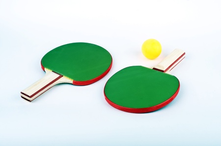 table tennis objects isolated photo