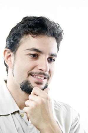 decission: Un pensiero uomo sorridente