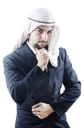 moorish clothing: Arab  man, think have a dubt