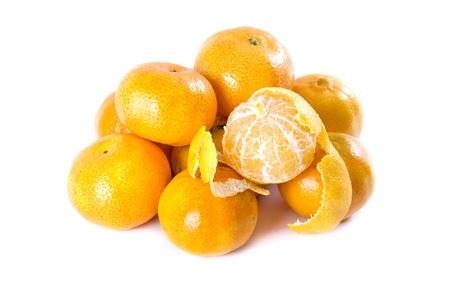 mandarins: Mandarins on white