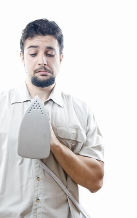 clumsiness: Single man vs clothes,