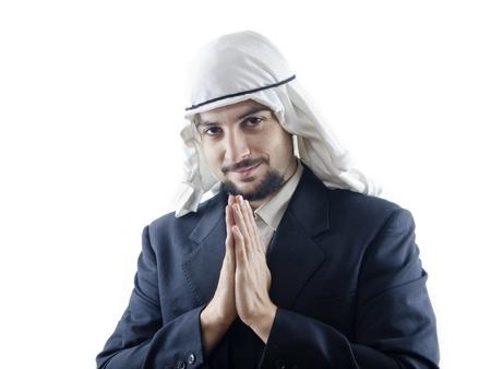 arabe: Yo, soy tu hombre de negocios árabe Foto de archivo