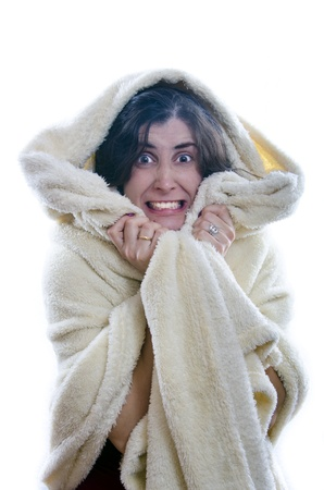 fleece:   I have damn cold  Stock Photo
