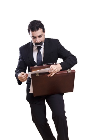 rushed: Stressed businessman