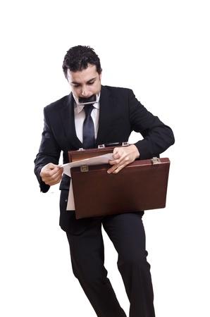 bundling: Stressed businessman