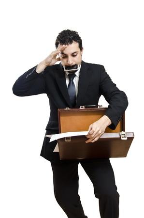 bundling: Stressed business Man