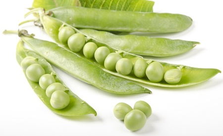 grocers: Green Pea on white Stock Photo