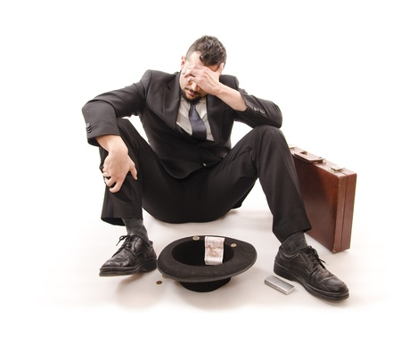 devastated: Businessman lost his job   Crisis time